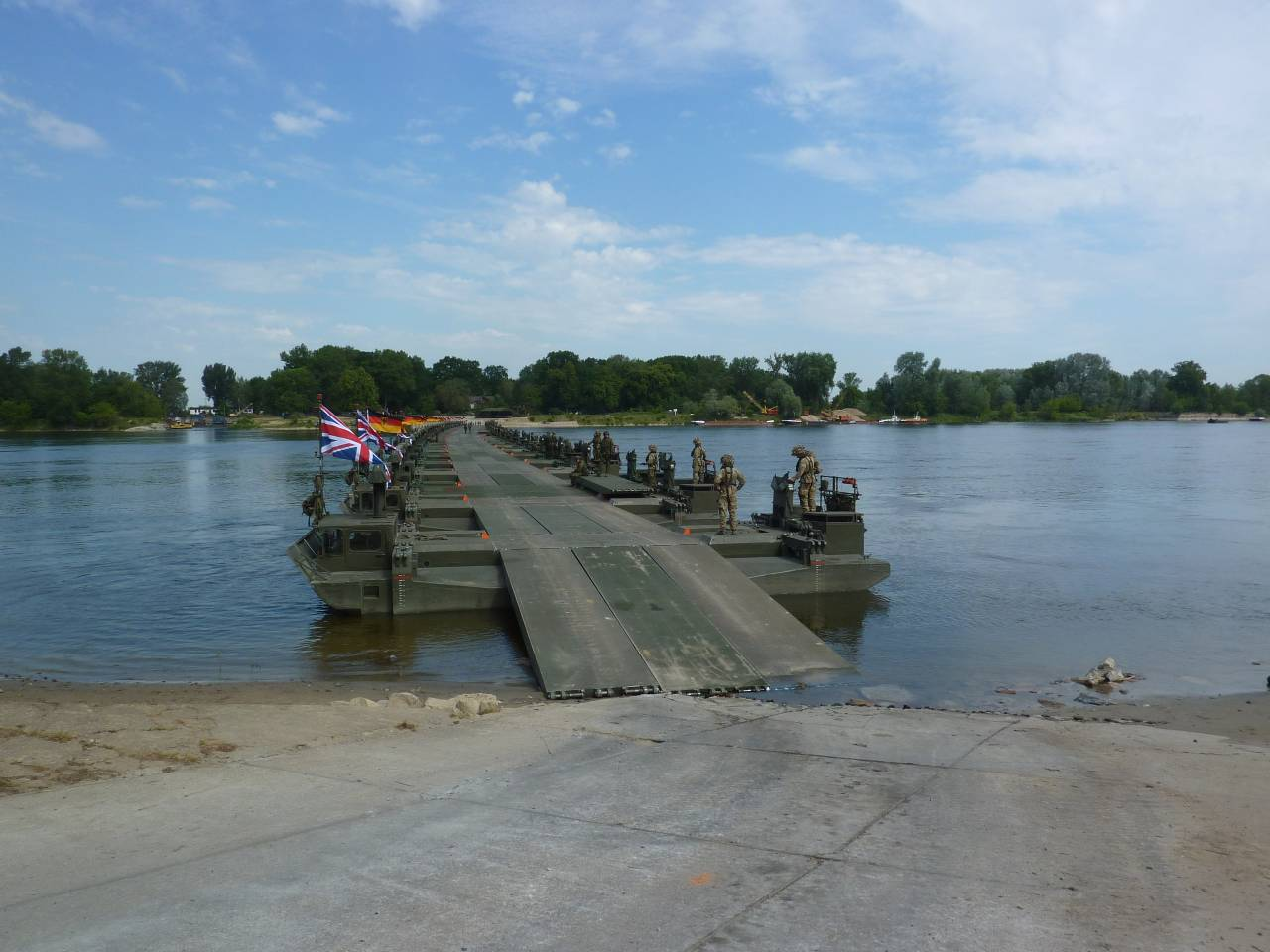 River crossing during Exercise Anaconda 2016. Source: General Dynamics European Land Systems.