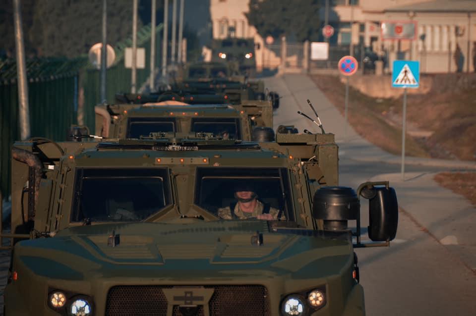 Photo: Joint Light Tactical Vehicles in Montenegro. Credit: Oshkosh Corporation