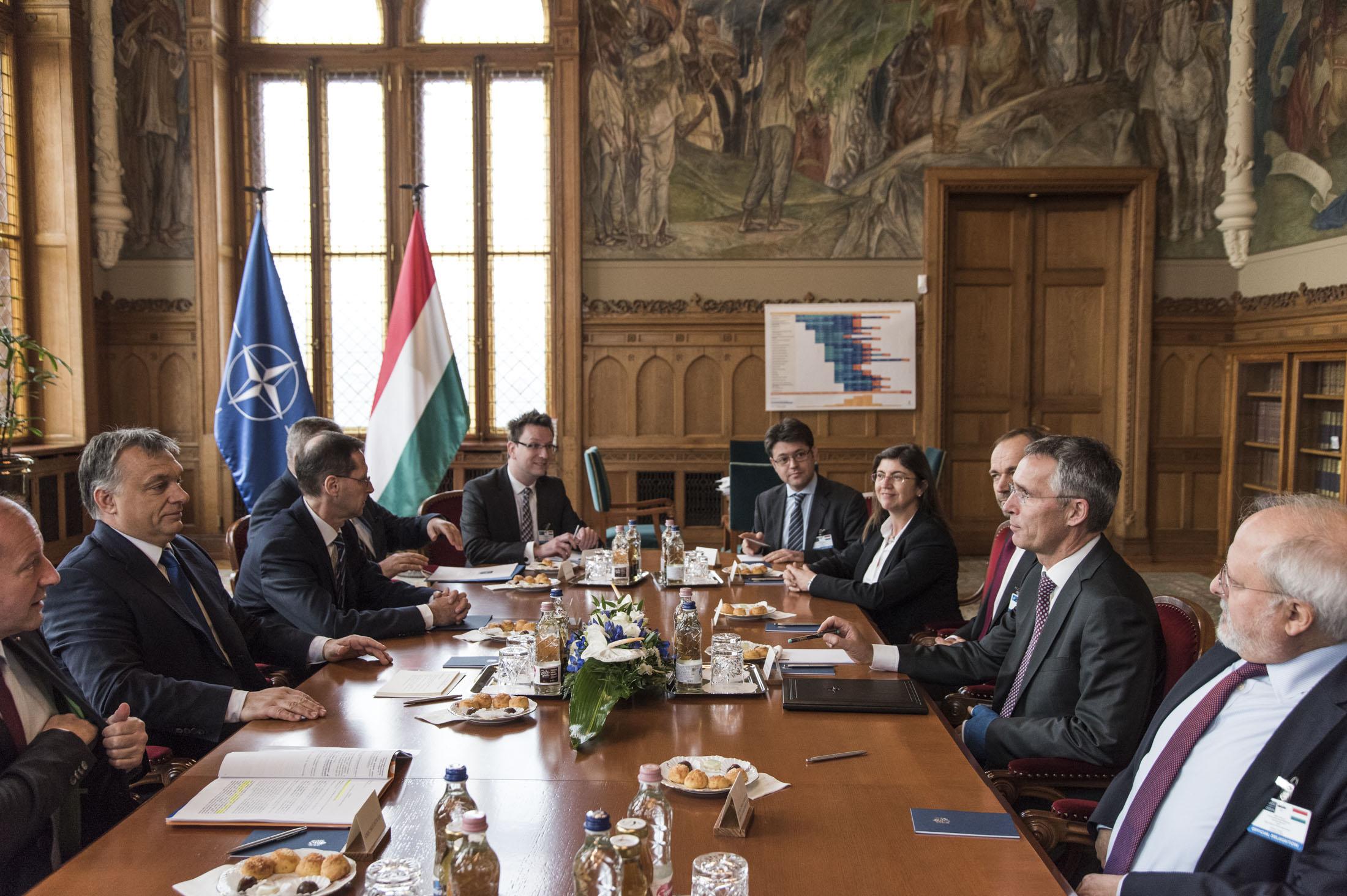 NATO Secretary General Jens Stoltenberg meets with the Prime Minister of Hungary, Viktor Orban