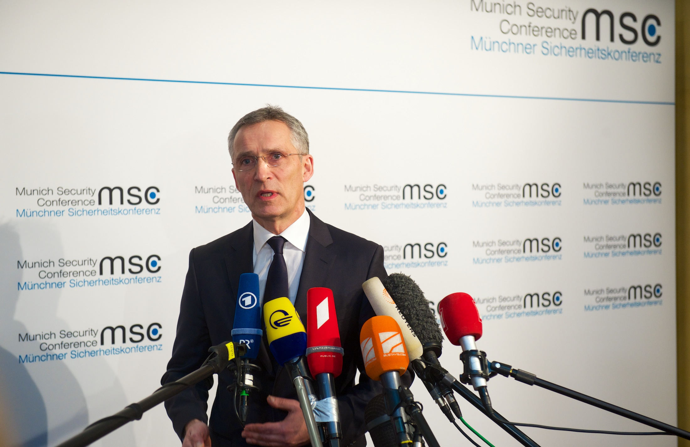 Doorstep statement by NATO Secretary General Jens Stoltenberg ahead of the Munich Security Conference