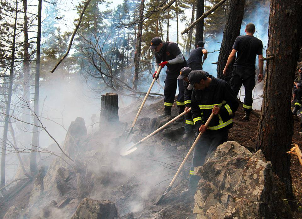 Photo: NATO Allies and partners help Georgia contain a major forest fire in the Samtskhe-Javakheti region. Credit: NATO