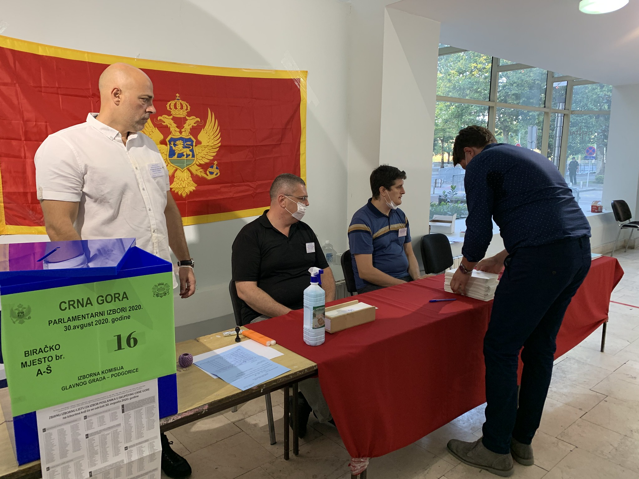 Election observation, Montenegro, 30 August 2020. Credit OSCE Parliamentary Assembly