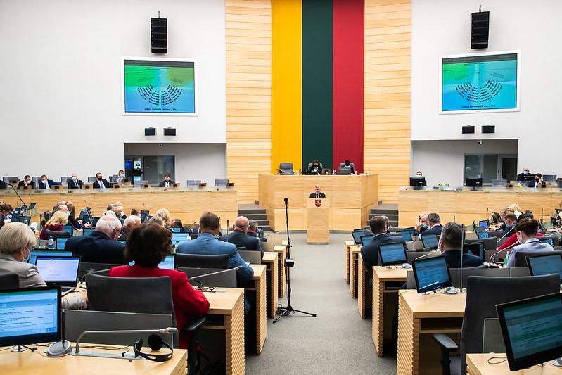 Photo: Seimas of the Republic of Lithuania in session. Credit: Olga Posaškova, Office of the Seimas