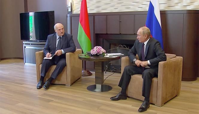 Lukahsenko and Putin September
