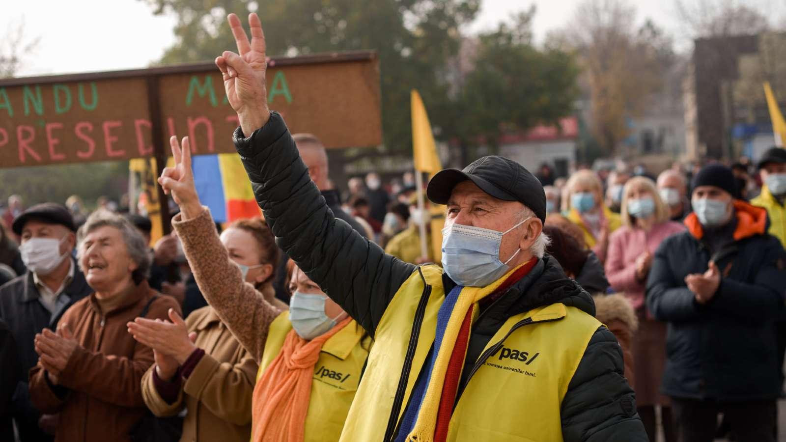 Photo: Supports of Maia Sandu at a rally in Straseni, Moldova. Credit: Maia Sandu Facebook