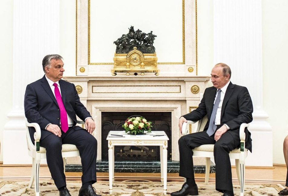 Photo: Viktor Orban and Vladimir Putin in Moscow, July 16, 2018. Credit: Prime Minister of Hungary