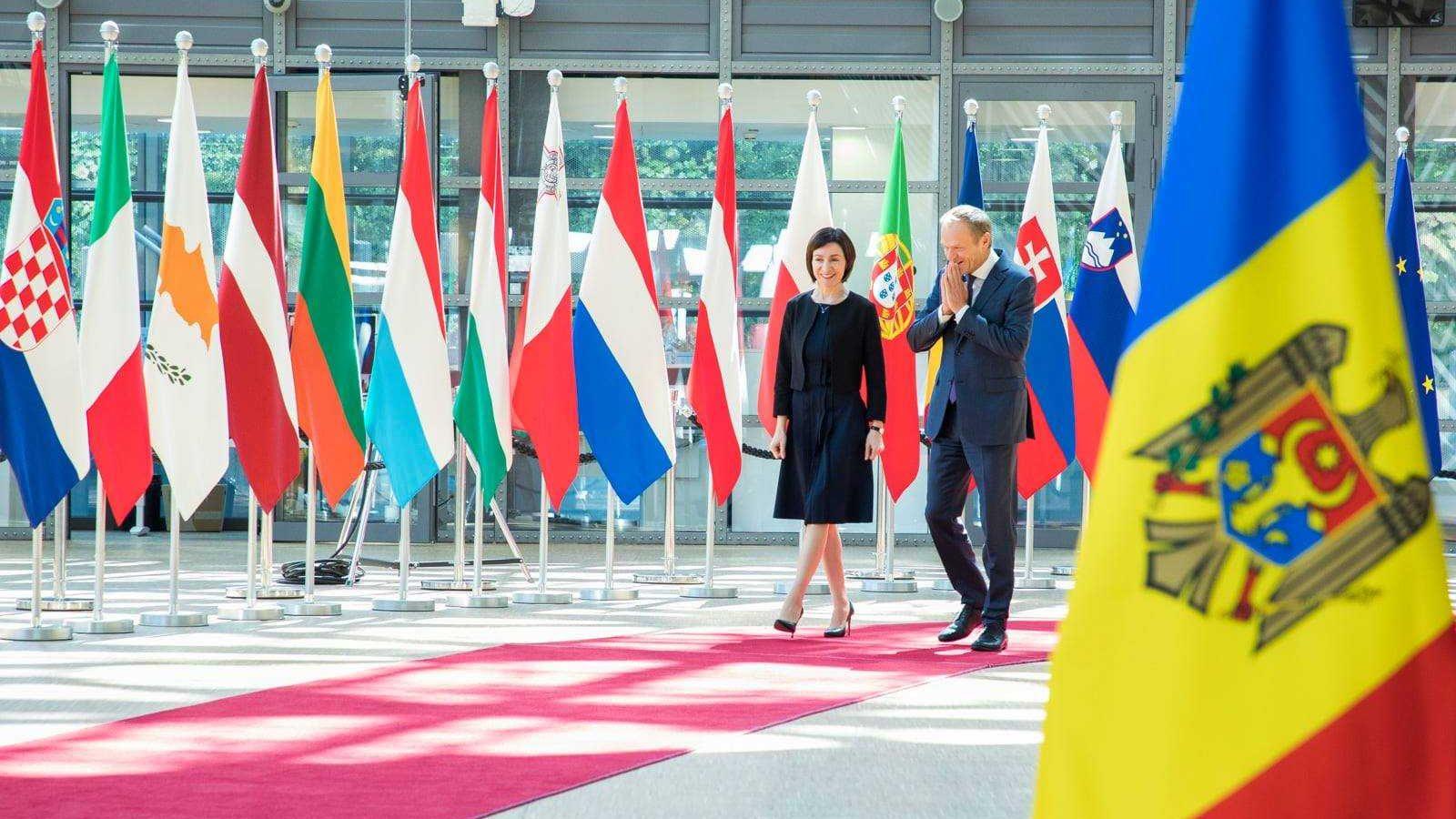 Photo: Maia Sandu meets with former EU Commission President Donald Tusk. Credit: Maia Sandu Facebook