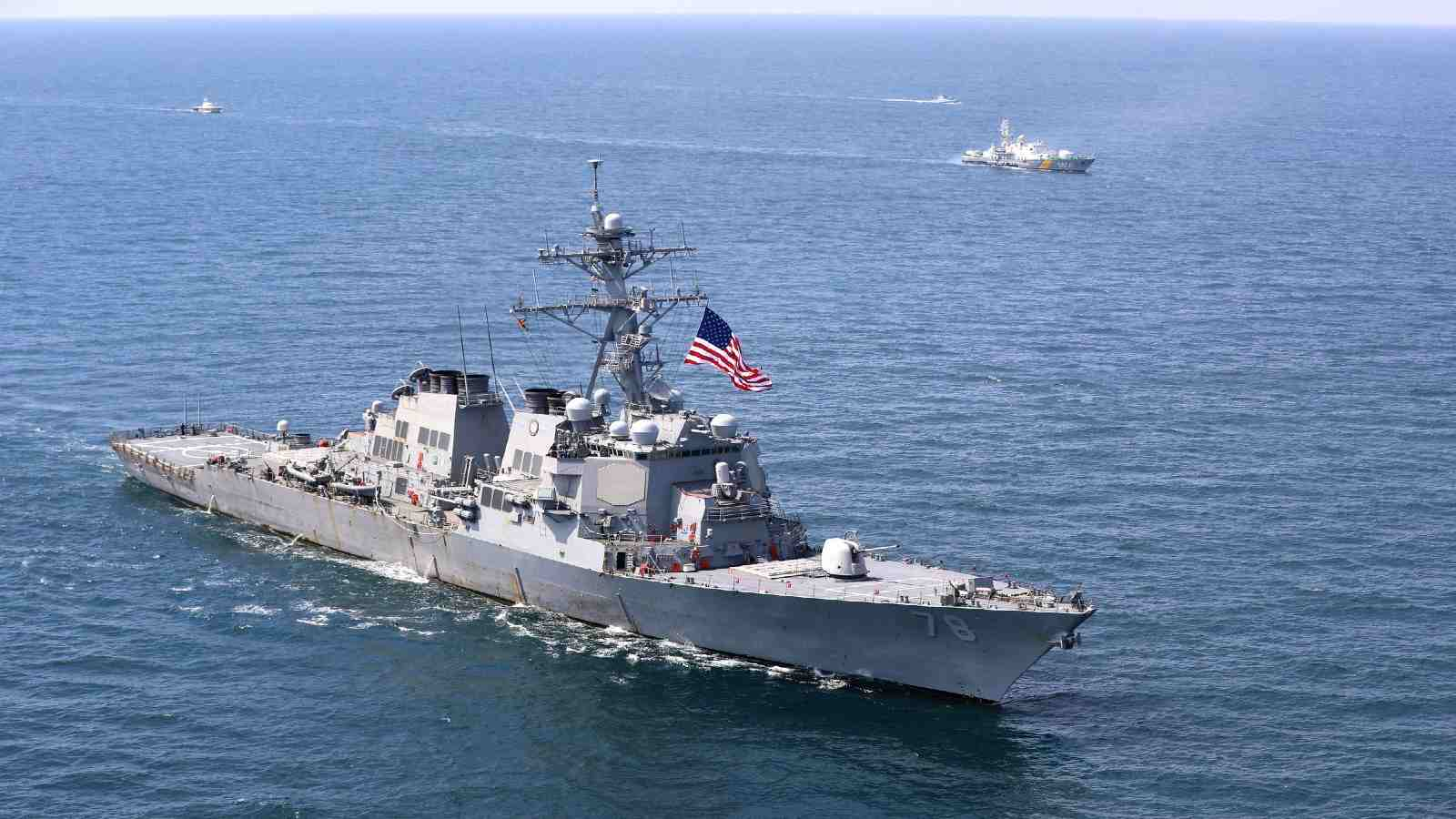 The guided-missile destroyer USS Porter (DDG 78) is underway in the Black Sea during exercise Sea Breeze 2020, July 25, 2020. Sea Breeze is an annual exercise designed to enhance interoperability among participating nations and strengthen regional security. The exercise began in 1997, bringing Black Sea nations together to train and operate with NATO members to build interoperability and increase capability