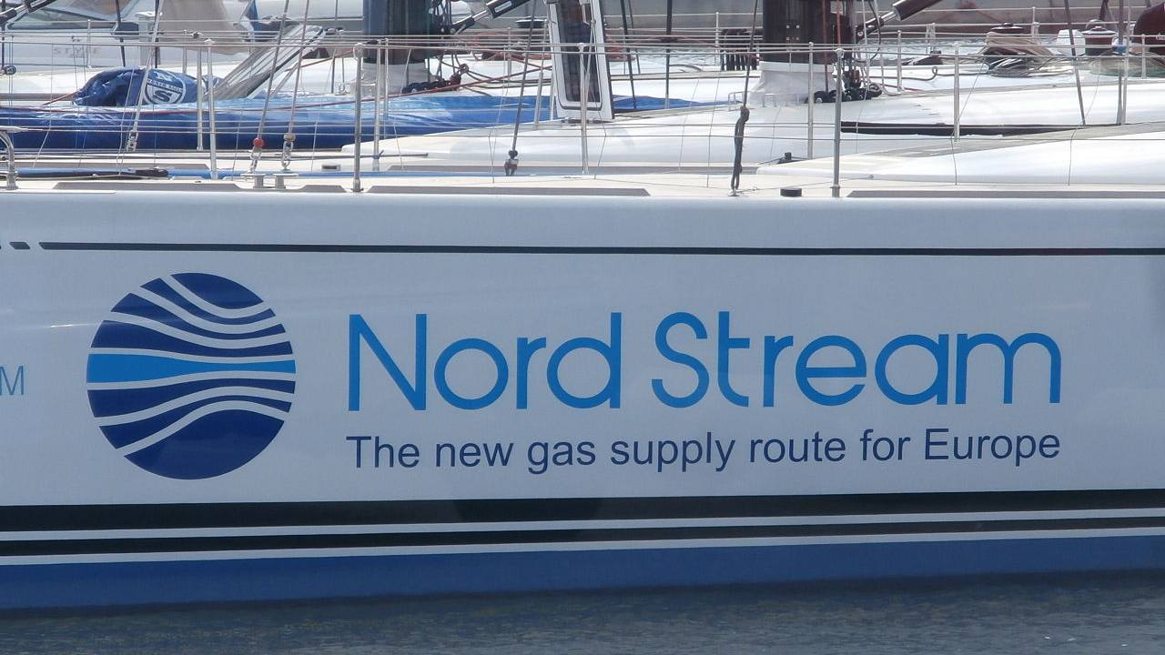 Photo: Spirit of Europe Sign 'Nord Stream - The new gas supply route for Europe', Tallinn 19 May 2014. Credit: Pjotr Mahhonin