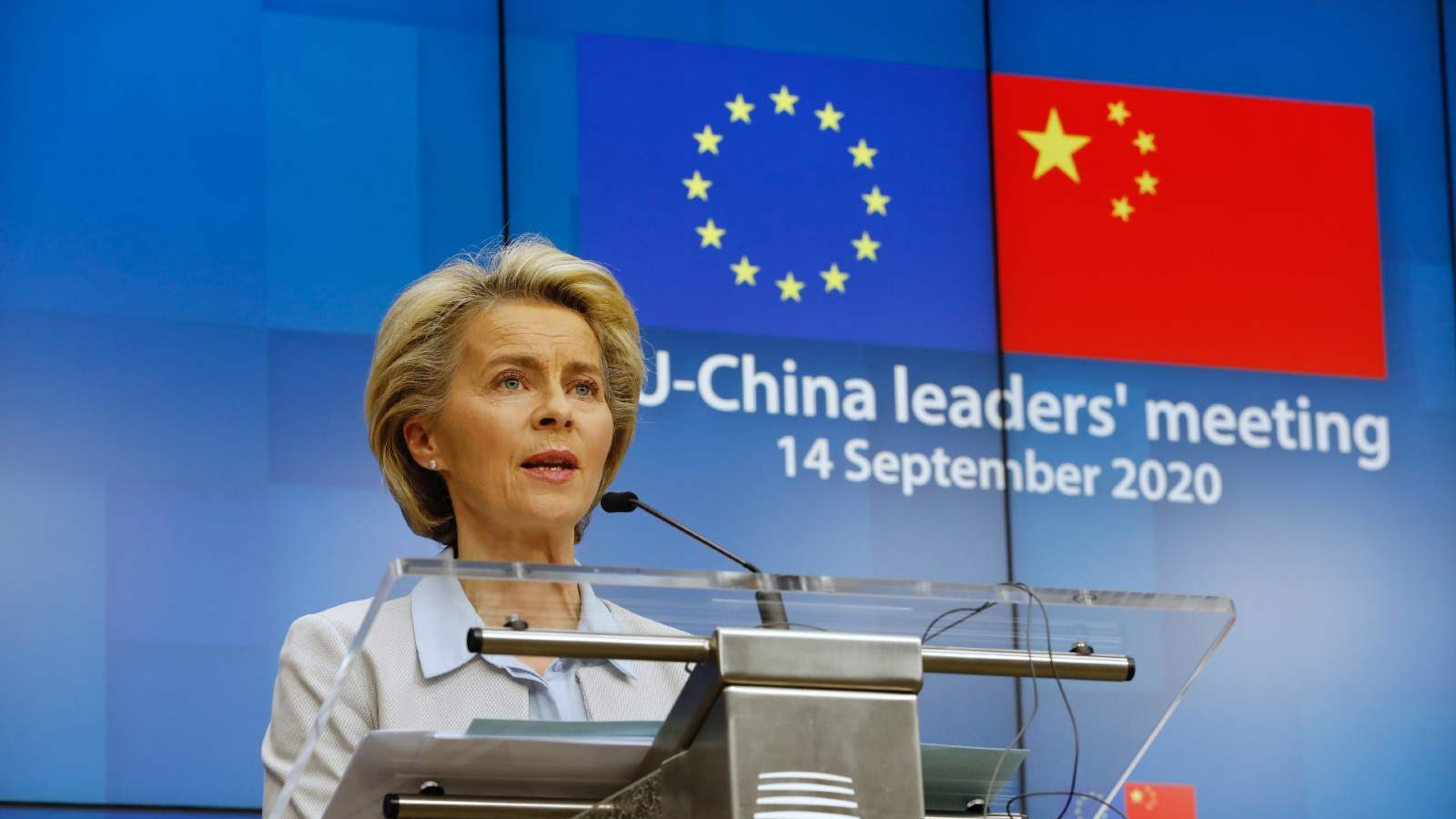 Ms Ursula VON DER LEYEN, President of the European Commission. EU-China leaders' meeting - September 2020