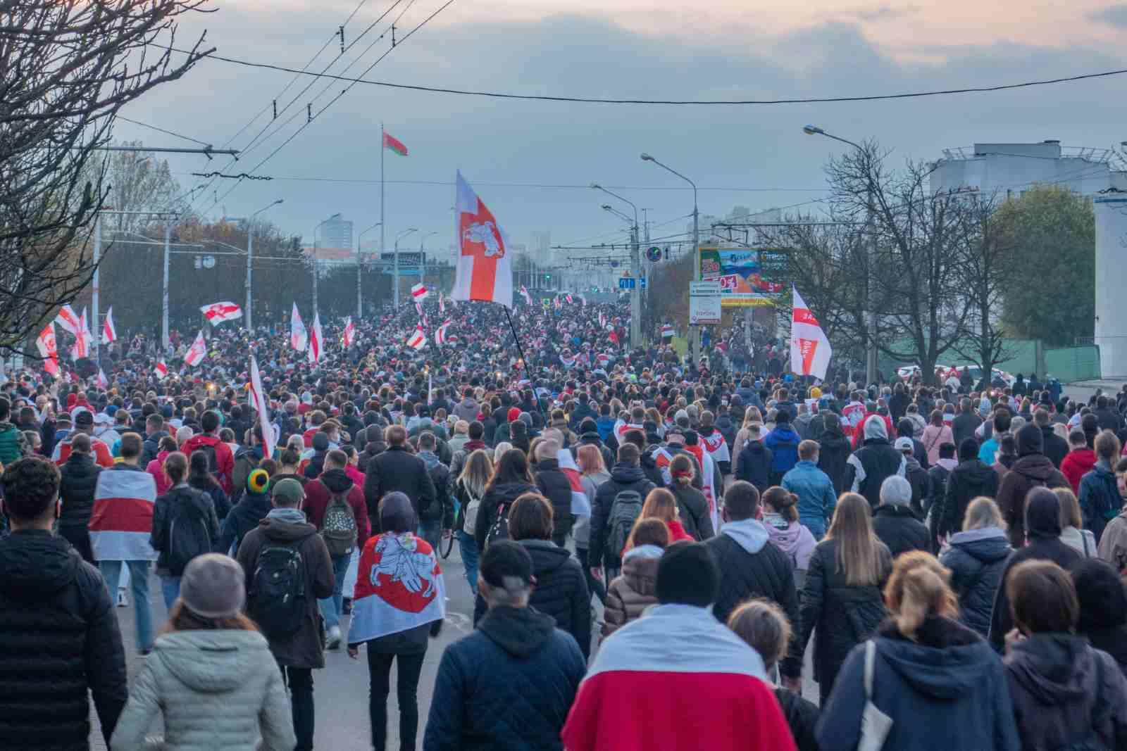 Protest rally against Lukashenko, 25 October 2020. Minsk, Belarus