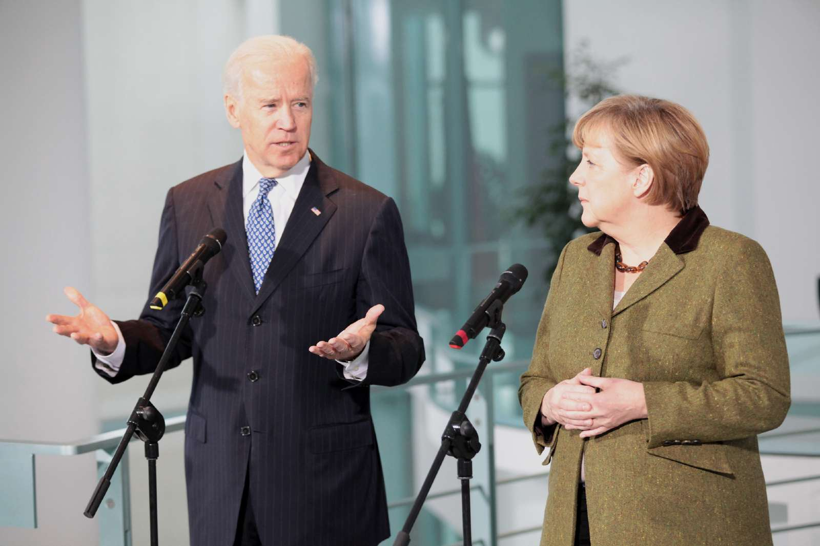 Vice President Joe Biden gives his remarks to the press. February 1, 2013