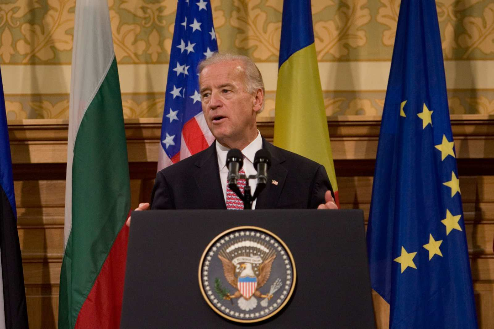 Vice President Joe Biden speaks at the Central University Library Bucharest, in Bucharest, Romania. October 22, 2009. (Official White House Photo by David Lienemann)