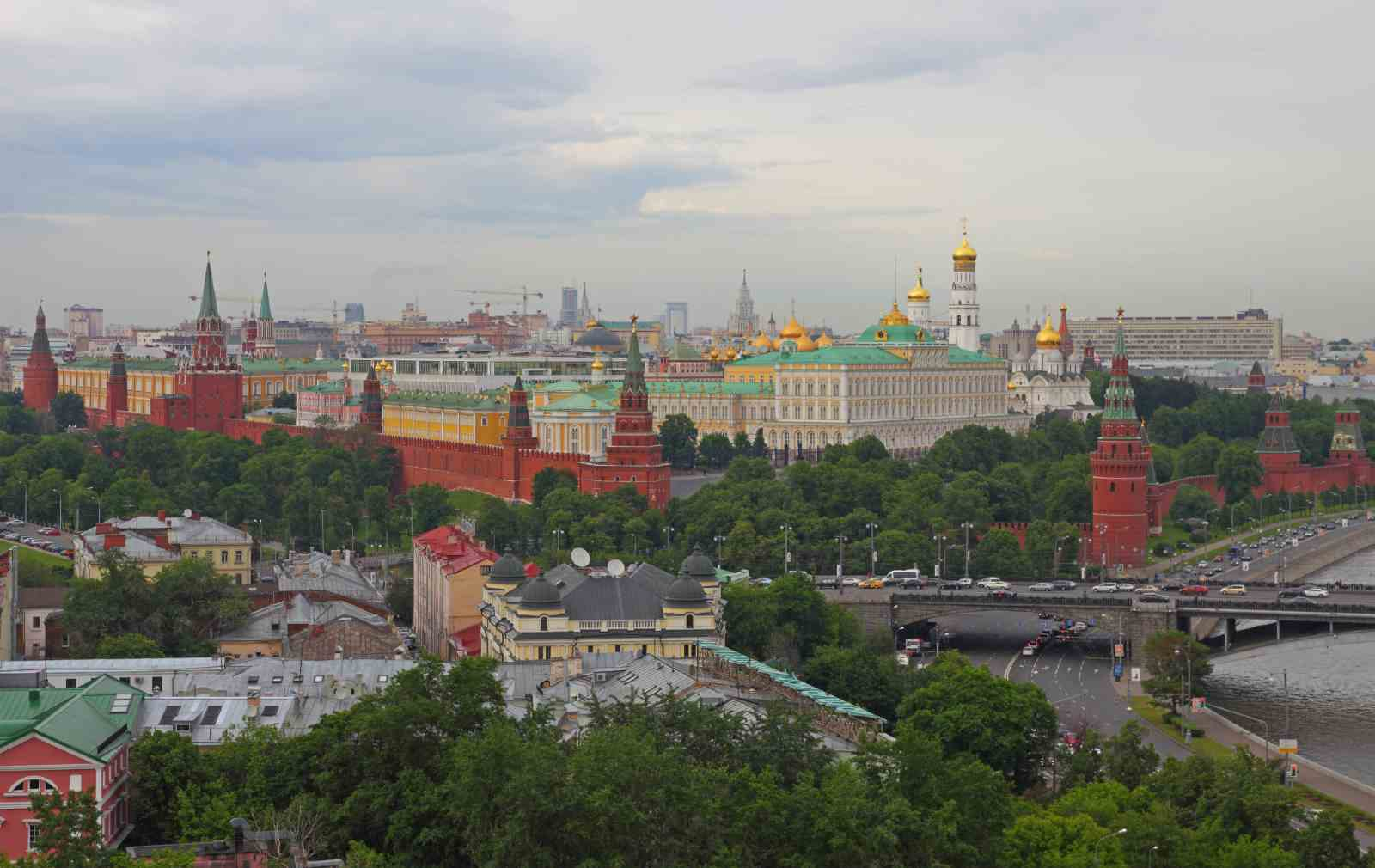 Moscow, Russia. General view of the Moscow Kremlin.