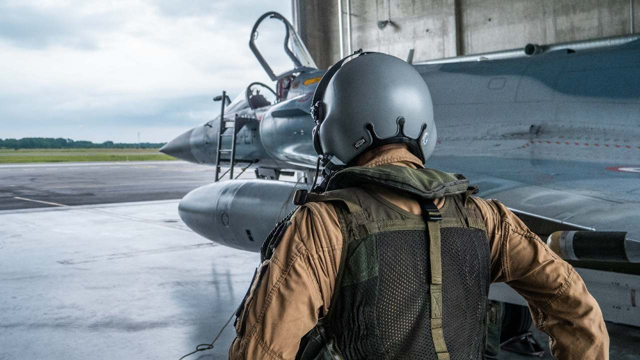 A French pilot boards his Mirage 2000 at Ämari Air Base in Estonia. NATO
