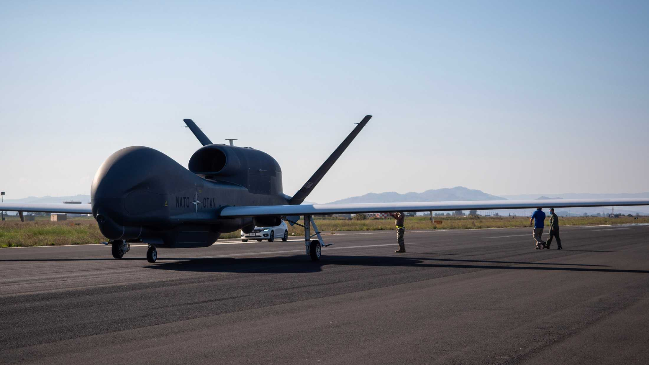 Fifth Phoenix aircraft arrives at the Alliance Ground Surveillance Main Operating Base. NATO