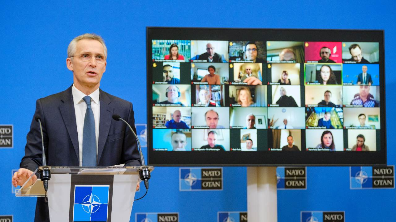 Press conference by NATO Secretary General Jens Stoltenberg ahead of the meetings of NATO Defense Ministers at NATO Headquarters in Brussels on 17 and 18 February. NATO