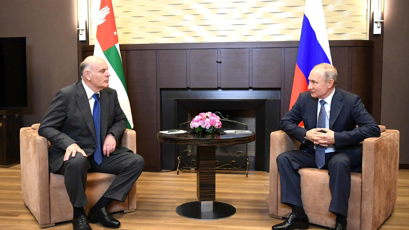 In Sochi, Vladimir Putin held talks with President of the Republic of Abkhazia Aslan Bzhania, who arrived in Russia on a working visit. November 12, 2020