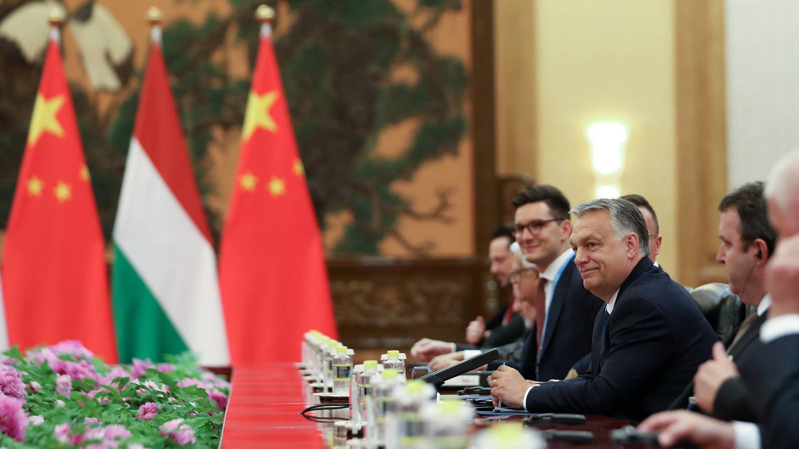 Photo: Hungarian Prime Minister Viktor Orban talks with Chinese President Xi Jinping (not pictured) during the bilateral meeting of the Second Belt and Road Forum at the Great Hall of the People, in Beijing, China April 25, 2019. Credit: Andrea Verdelli/Pool via REUTERS.