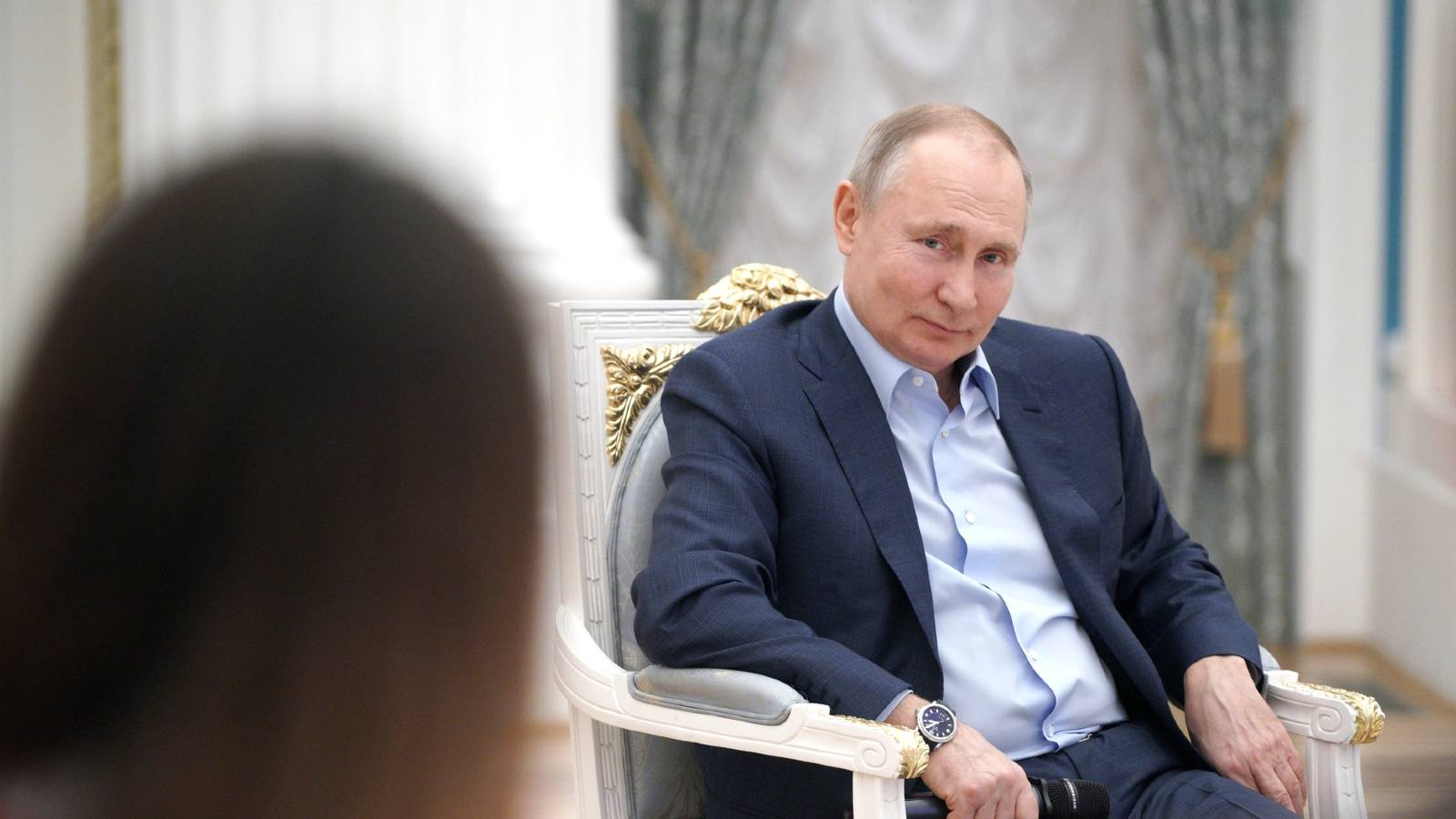 Photo: Vladimir Putin held a meeting with the participants in the nationwide mutual assistance campaign. March 4, 2021 Credit: Kremlin