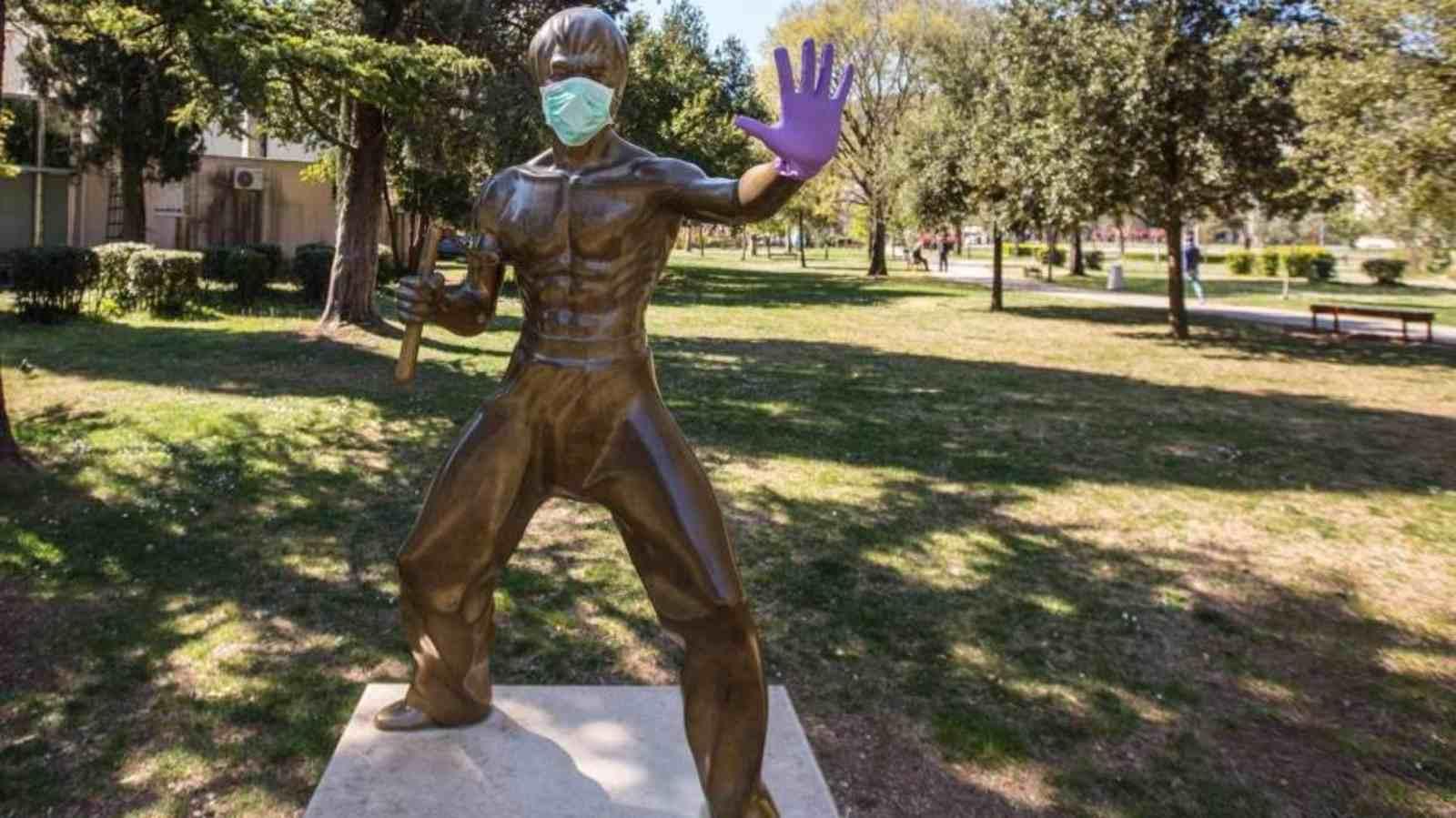 Photo: Bruce Lee statue in Mostar, Bosnia and Hercegovina. Credit: reddit r/europe