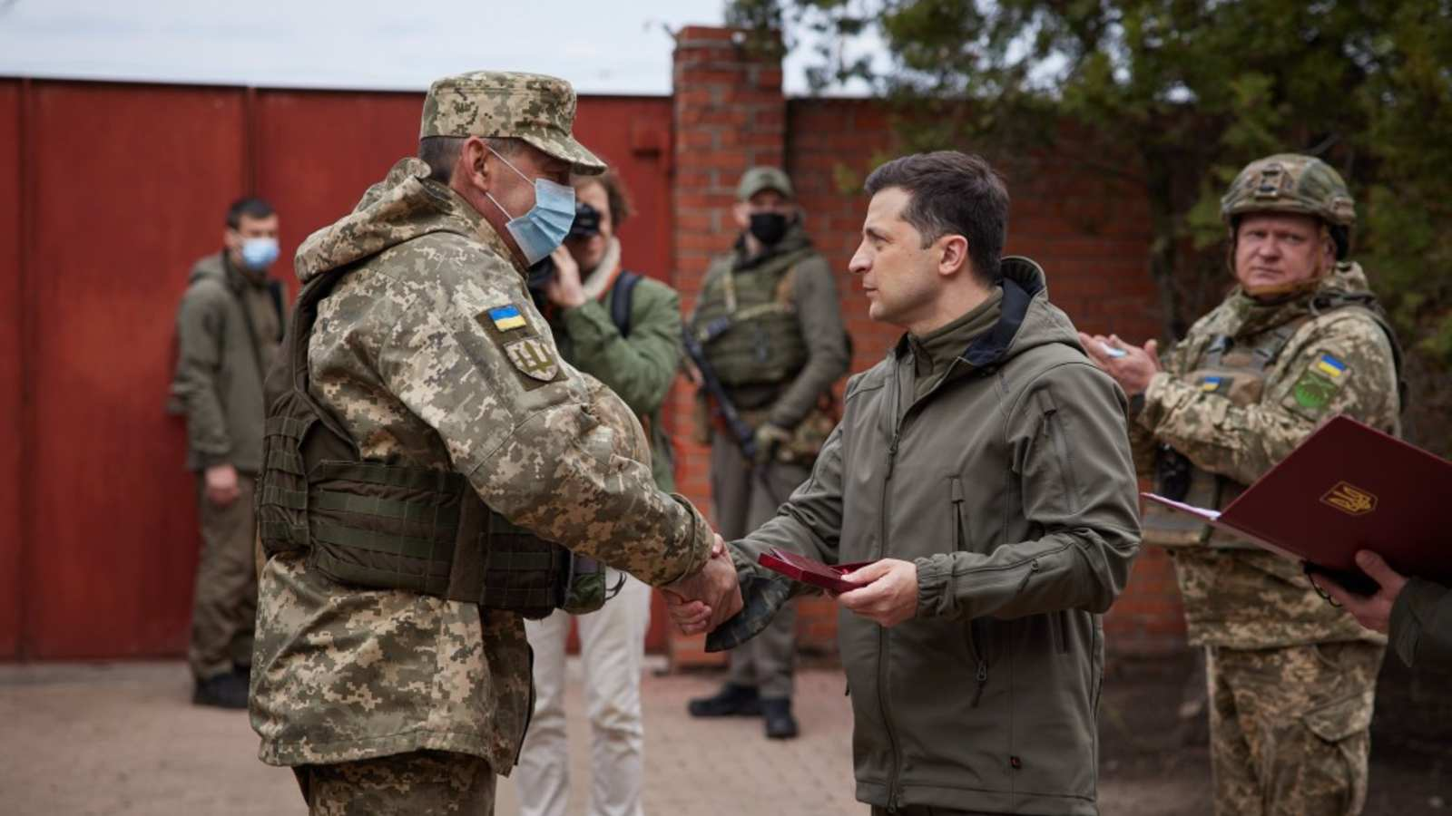 Photo: President Zelensky on a Working trip to Donbas April 8, 2021. Credit: President of Ukraine