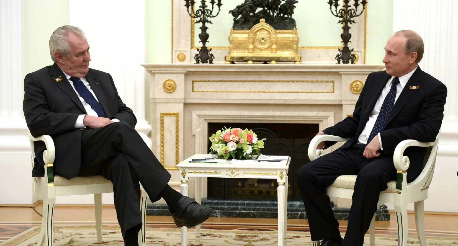 Photo: With President of the Czech Republic Milos Zeman. Credit: Kremlin