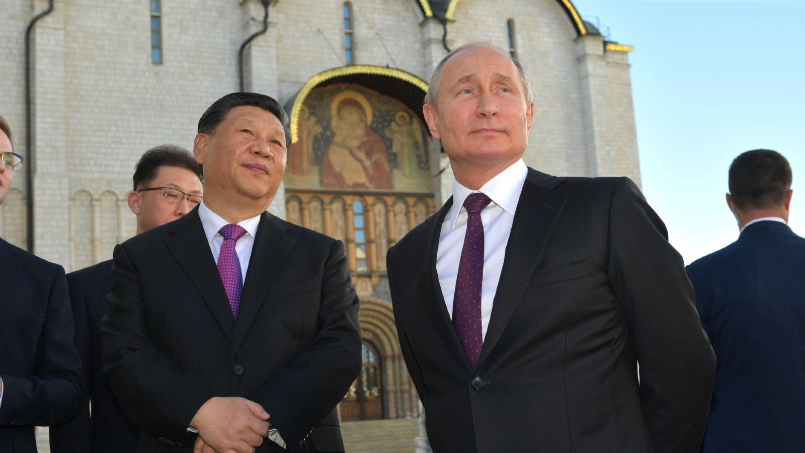Photo: President Putin With President of the People's Republic of China Xi Jinping during a tour of the Moscow Kremlin. Credit: Kremlin