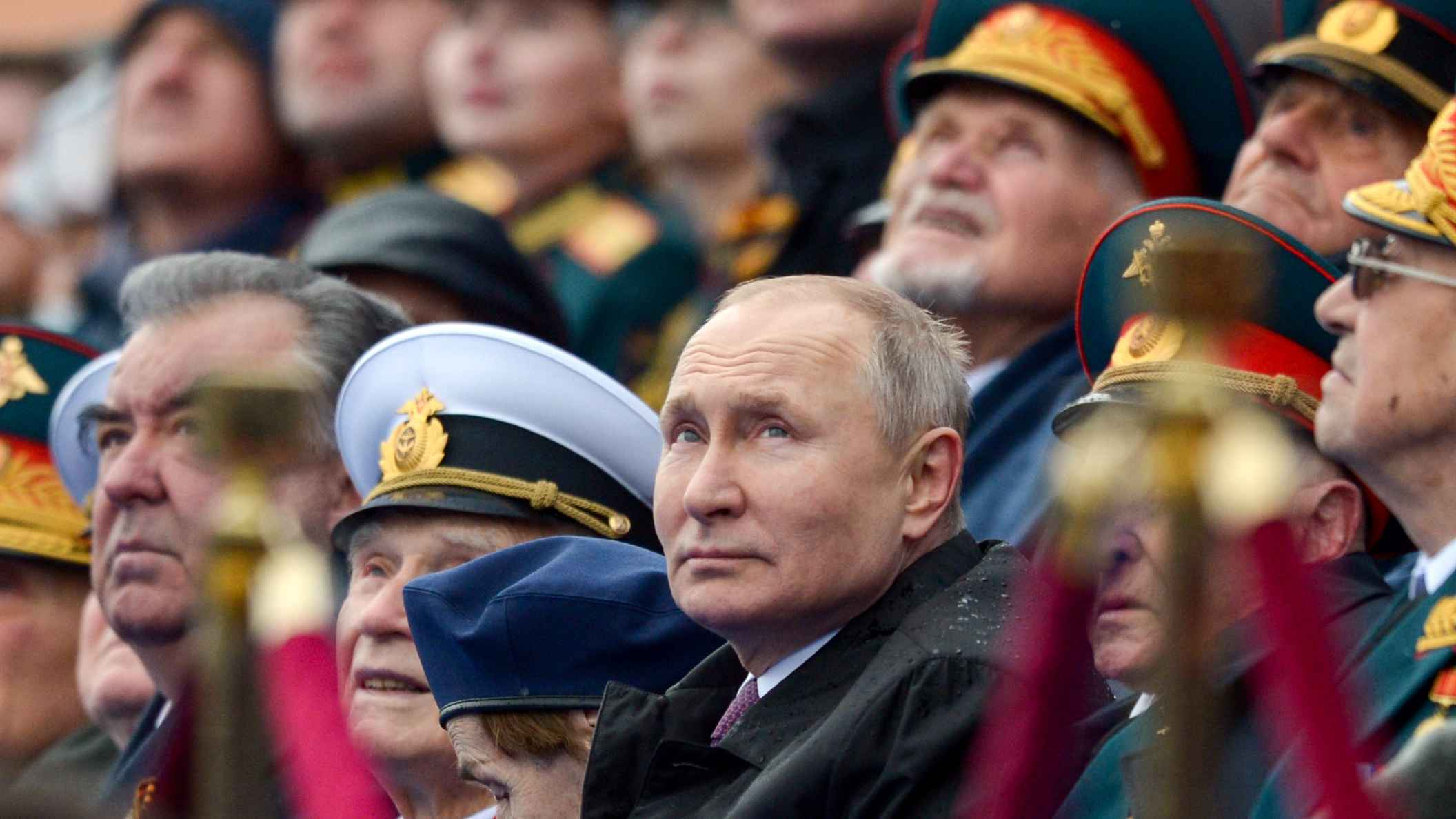 Photo: MOSCOW, RUSSIA – MAY 9, 2021: Russia's President Vladimir Putin (C) attends a Victory Day military parade held in Red Square to mark the 76th anniversary of the victory over Nazi Germany in World War II. Credit: Alexei Nikolsky/Russian Presidential Press and Information Office/TASS.