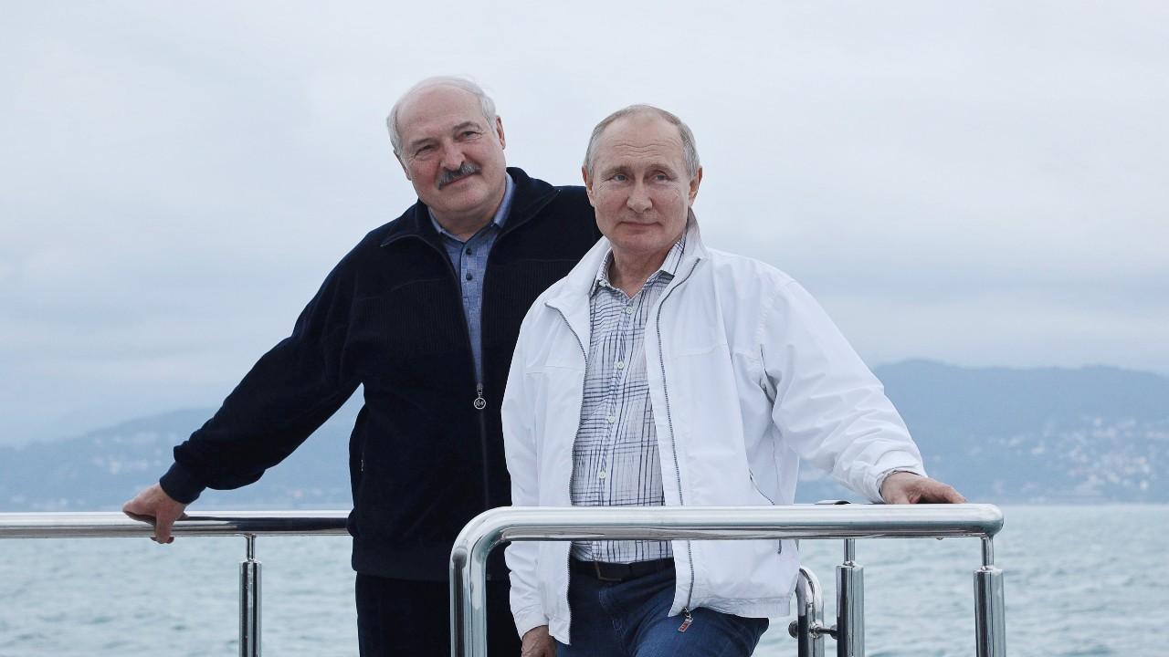 Photo: SOCHI, RUSSIA - MAY 29, 2021: Belarusian President Alexander Lukashenko (L) and Russia's President Vladimir Putin during a boat ride off Russia's Black Sea coast. Credit: Sergei Ilyin/Russian Presidential Press and Information Office/TASS