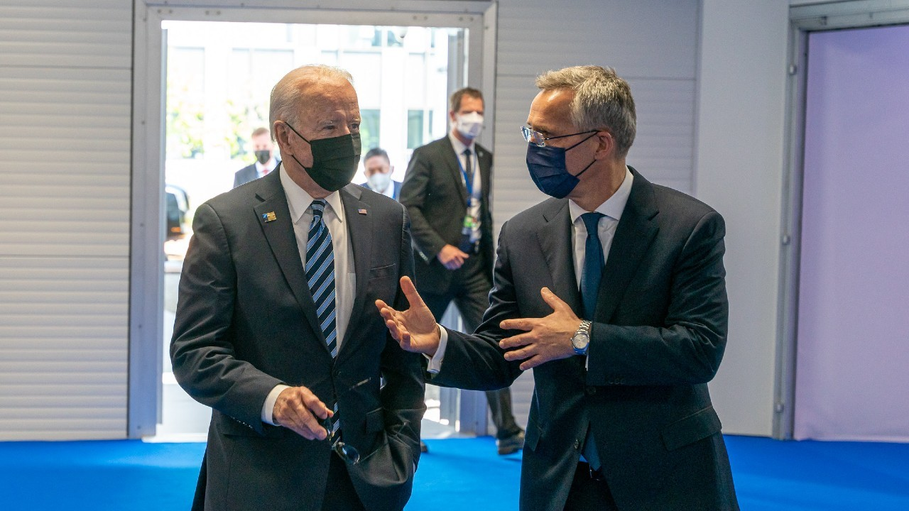 Photo: President Joe Biden meets with Secretary General Jens Stoltenberg at NATO Headquarters in Brussels. Credit: NATO