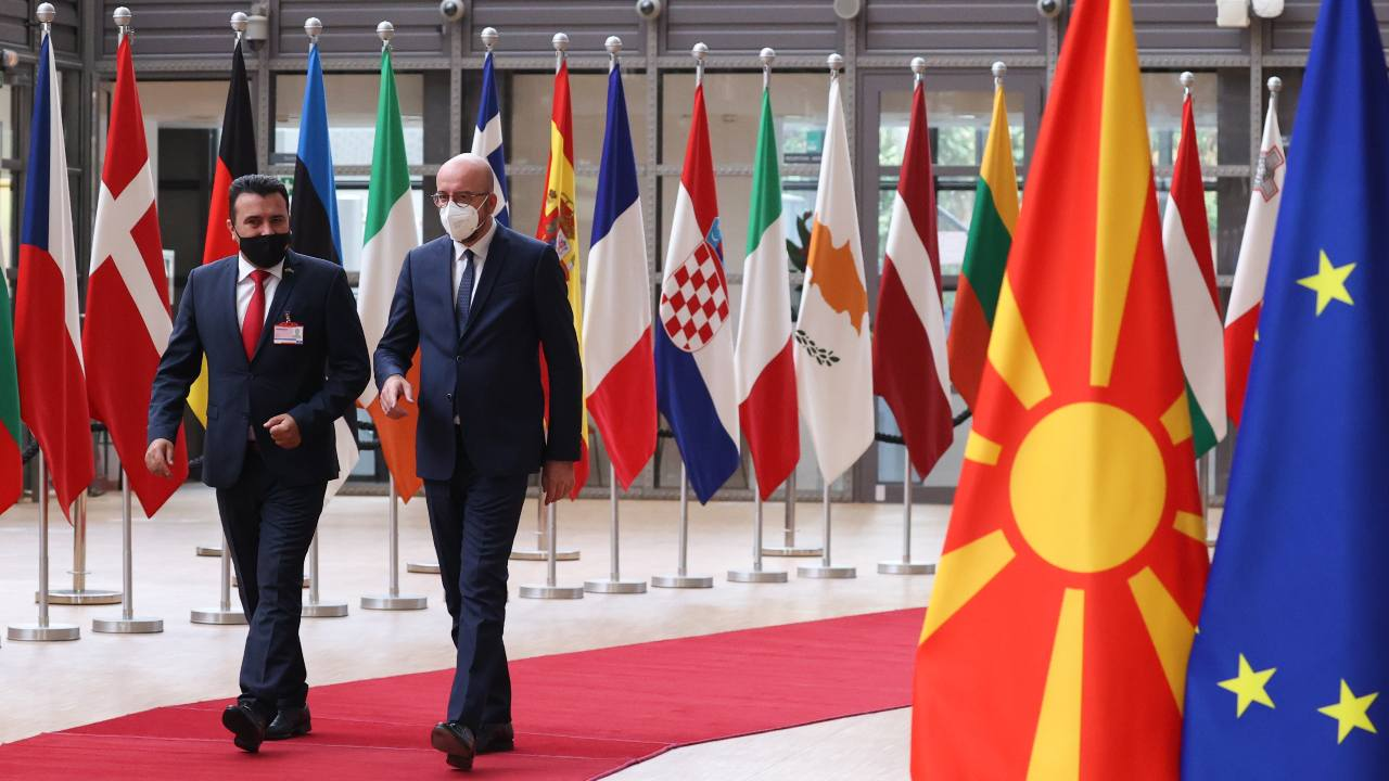 Photo: European Commission President Charles Michel meets Prime Minister of the Republic of North Macedonia Zoran Zaev. Credit: European Council
