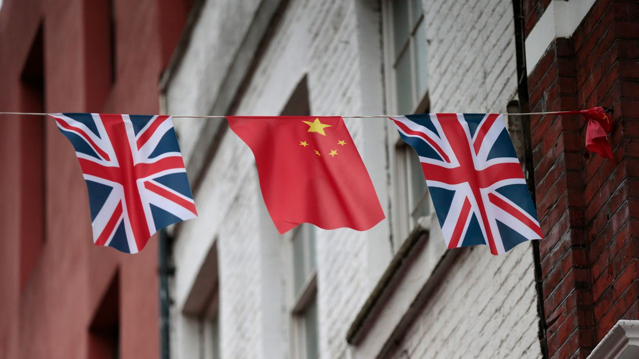 Photo: Chinese and British flags fly in London's Chinatown, Britain October 19, 2015. Chinese President Xi Jinping arrives in Britain on Monday for a state visit at the invitation of Queen Elizabeth II, the first state visit to the United Kingdom by a Chinese leader since 2005. Credit: REUTERS/Suzanne Plunkett