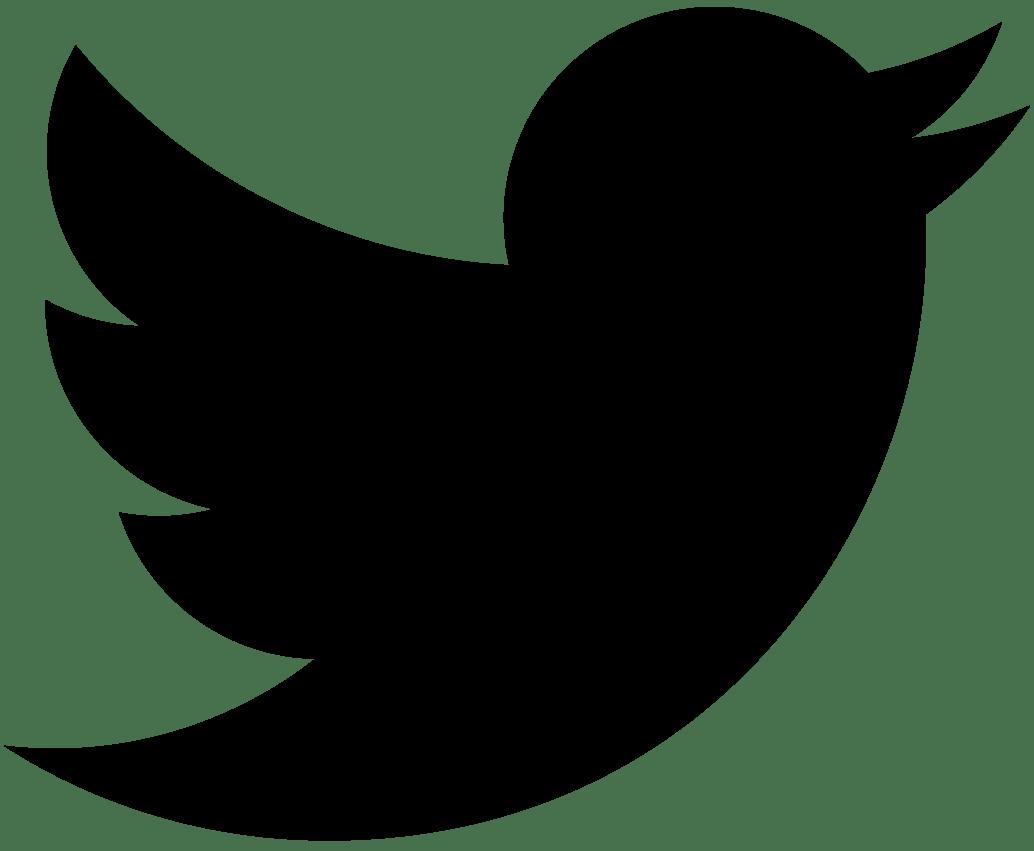 2021 Twitter logo – black