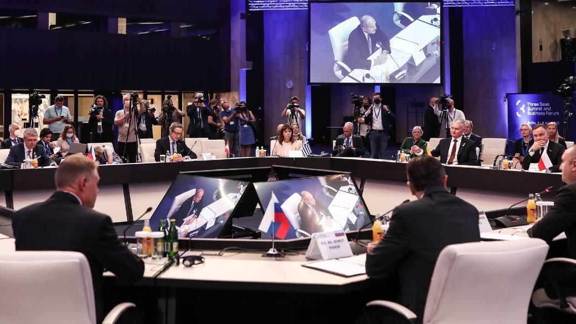 Photo: Three Seas Initiative Summit in Sofia, Bulgaria, July 8, 2021. Credit: Presidency of Greece