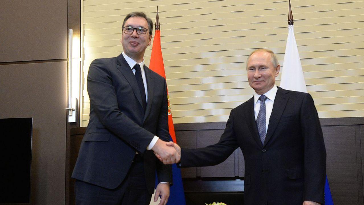 Photo: President Vučić with President Putin on a one-day visit to Sochi, April 12, 2019. Credit: Presidency of Serbia/Dimitrije Goll