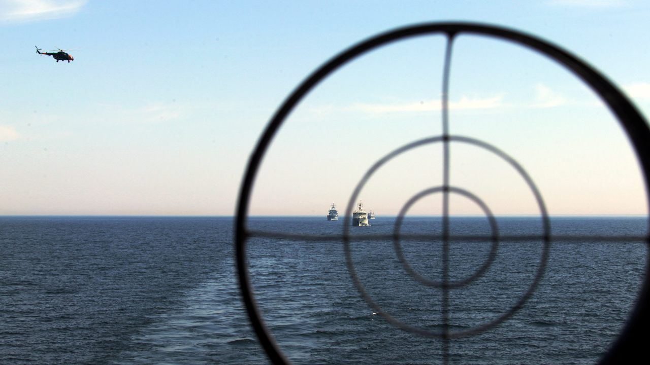 Photo: NATO vessels during exercise Open Spirit 2021. Credit: Normunds Mežiņš, Latvian Armed Forces.