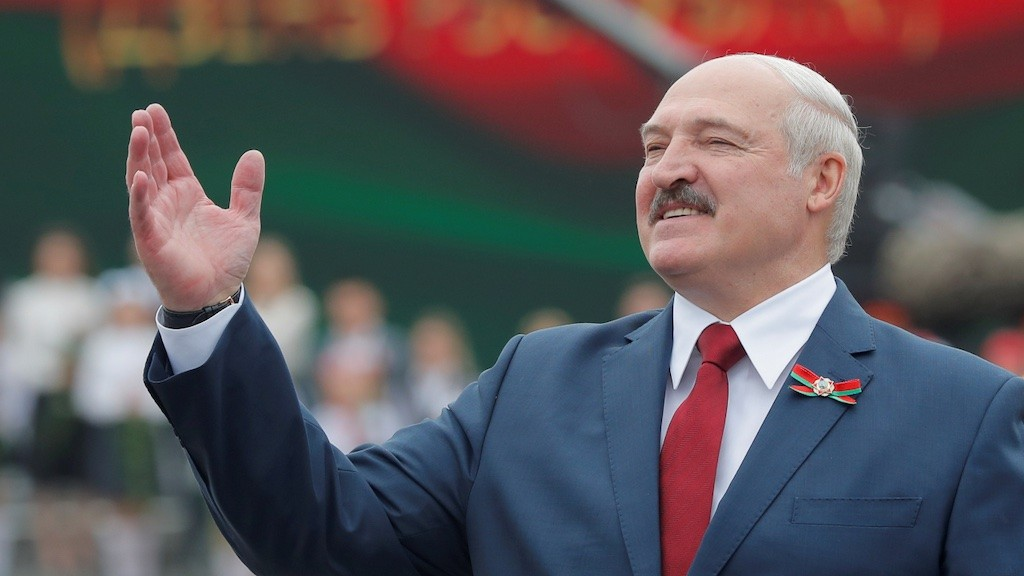 Photo: Belarusian President Alexander Lukashenko gestures as he takes part in the celebrations of Independence Day in Minsk, Belarus July 3, 2020. Credit: REUTERS/Vasily Fedosenko/File Photo.