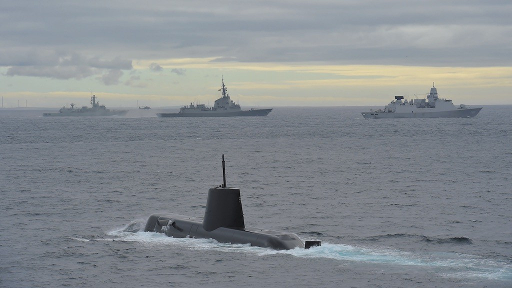 Image: NATO Maritime power demonstration with vessels from the First Standing NATO Maritime Group. Credit: NATO.