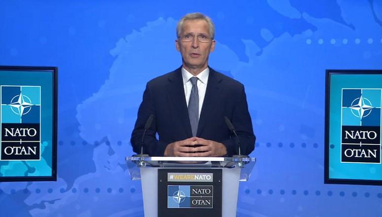 NATO Secretary General Jens Stoltenberg receives CEPA 2021 Transatlantic Leadership Award.