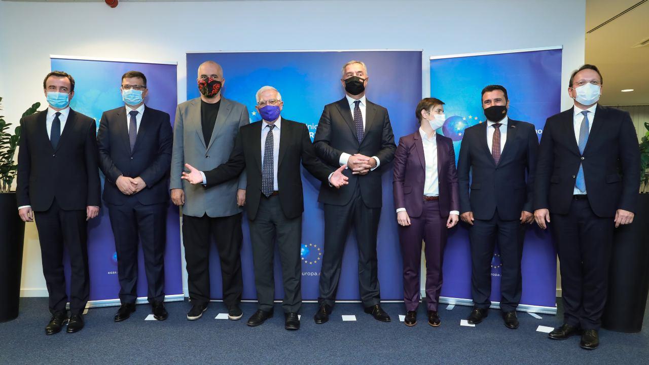 Photo: European Union High Representative Josep Borrell meets the leaders of the Western Balkans. Credit: European Council