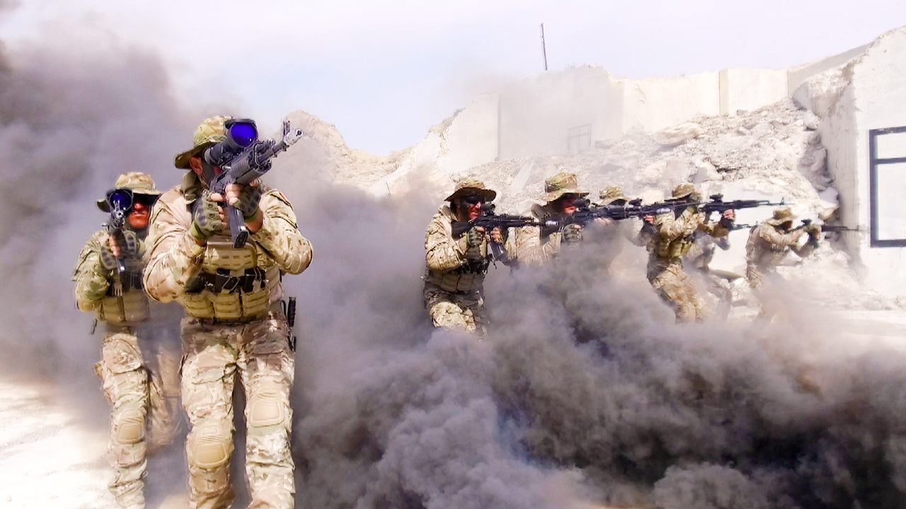 """The militaries of Azerbaijan and Turkey hold the combat operation phase of the """"Unshakable Brotherhood-2021"""" joint operational-tactical exercise. Credit: Ministry of Defense of the Republic of Azerbaijan."""