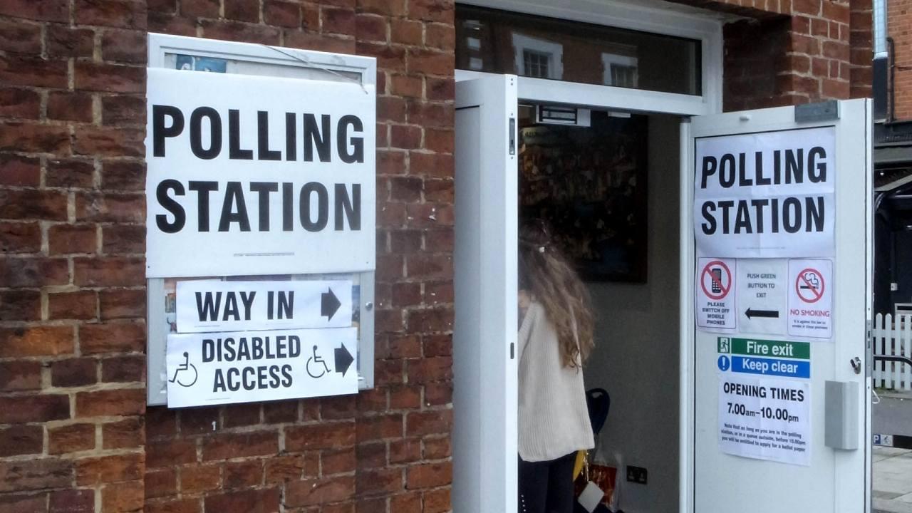 Photo: UK polling station 2017. Credit: Mramoeba/Wikimedia Commons